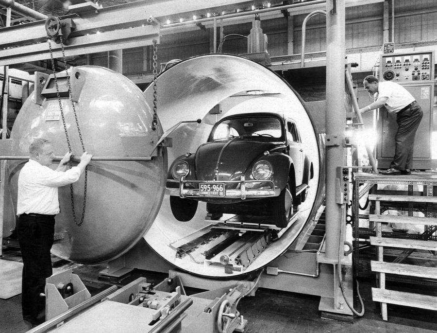 Hamilton Standards' developments during the early 1960's included ribbon filaments for round beam spot and high power beam generation systems up to 30 kW for deep penetration welds.