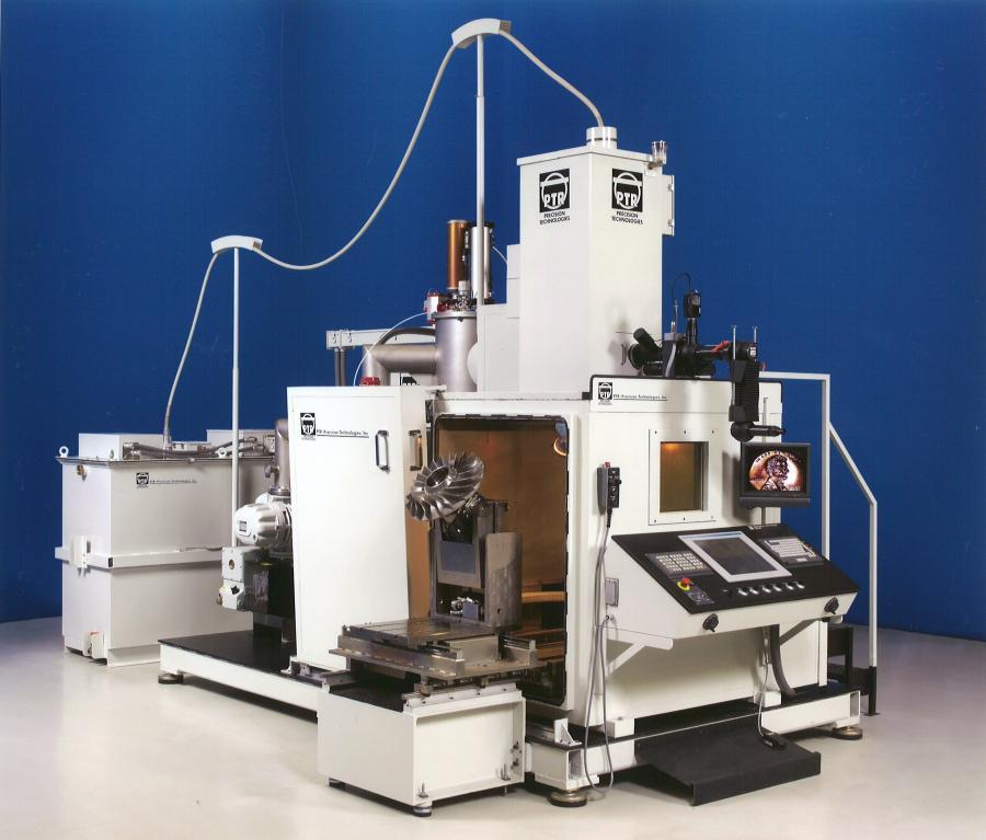 1990's updated version of PTR's Medium Chamber EB Welding System.