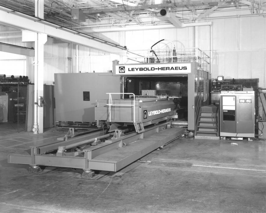 Manufactured in the mid-1980's, Leybolds' Large Steam Turbine Generator EB welding unit is one of the largest and most powerful (60 kW) EBW systems in the US.